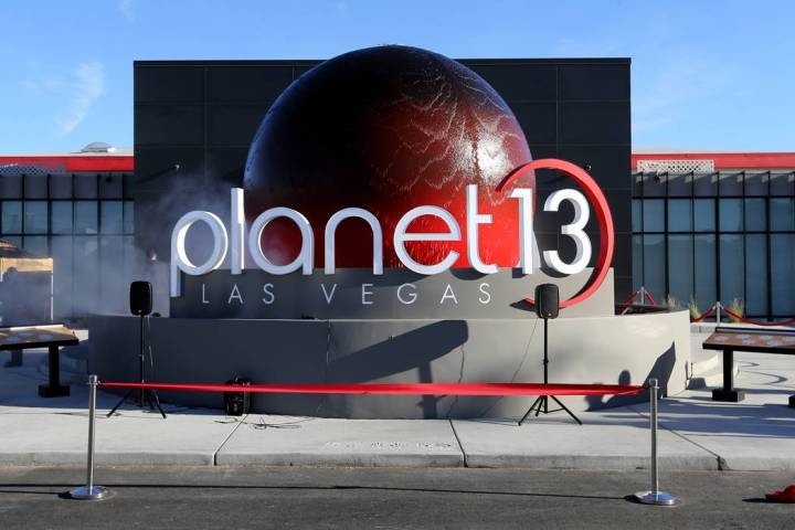 Planet 13, which bills itself as one of the largest dispensaries in the world, opened its doors to the public Thursday, Nov. 1, 2018. The marijuana store is located near the intersection of Desert ...