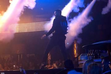 Drake performs for CES attendees and club-goers at XS Nightclub in Encore at Wynn Las Vegas Thursday, Jan. 10, 2019. (John Katsilometes Las Vegas Review-Journal)