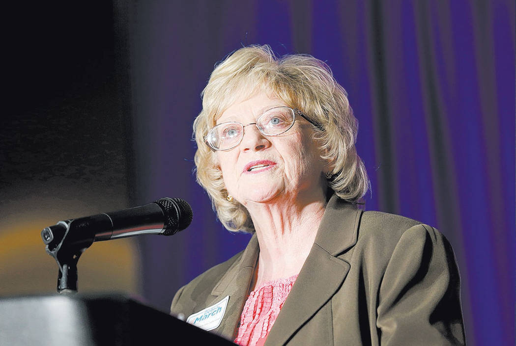 Nevada State Sen. Joyce Woodhouse, seen in 2016 (Las Vegas Review-Journal)