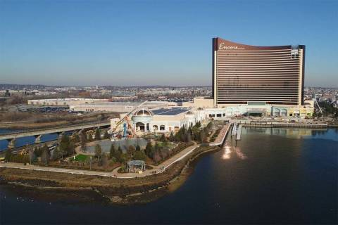 Las Vegas-based Wynn Resorts Ltd. plans to open the $2.6 billion Encore Boston Harbor in June in Everett, Massachusetts. (Massachusetts Gaming Commission)