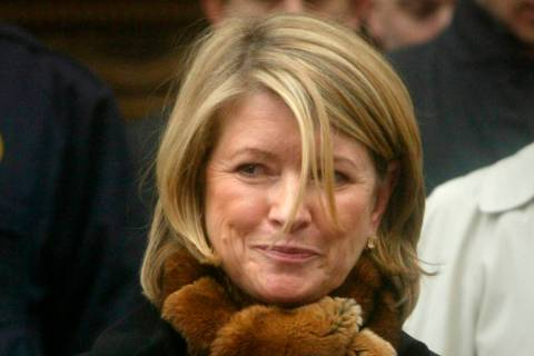 FILE - In this March 5, 2004 file photo, Martha Stewart leaves Manhattan Federal Court after guilty verdicts in her federal stock fraud trial in New York. President Donald Trump says he's consider ...