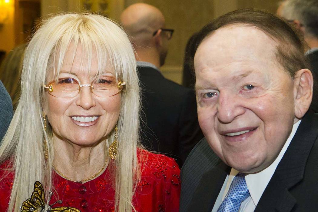 Dr. Miriam Adelson and Las Vegas Sands Corp. Chairman and CEO Sheldon Adelson during the Adelson Educational Campus' 13th annual In Pursuit of Excellence Gala at The Venetian in Las Vegas on Sunda ...
