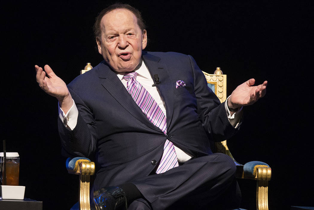 Las Vegas Sands Corp. Chairman and CEO Sheldon Adelson speaks during a news conference before the grand opening of his new resort, Parisian, on Tuesday, Sept. 13, 2016, in Macau. Erik Verduzco/Las ...