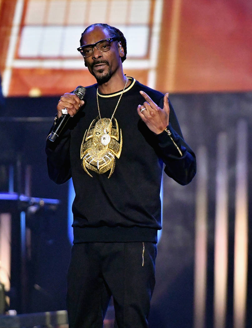 Snoop Dogg performs during the 33rd annual Stellar Gospel Music Awards at the Orleans Arena on March 24, 2018 in Las Vegas, Nevada. (Photo by Earl Gibson III/Getty Images) *** Local Caption *** S ...