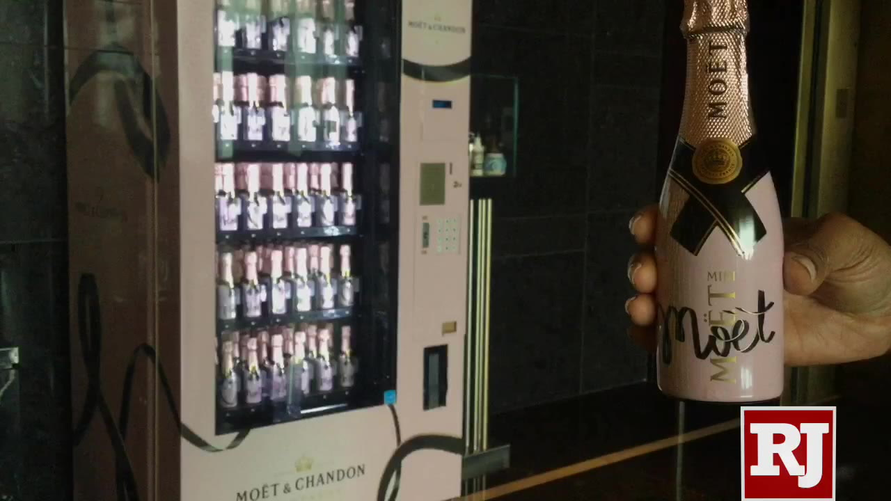 Champagne Vending Machine Featured On Las Vegas Strip