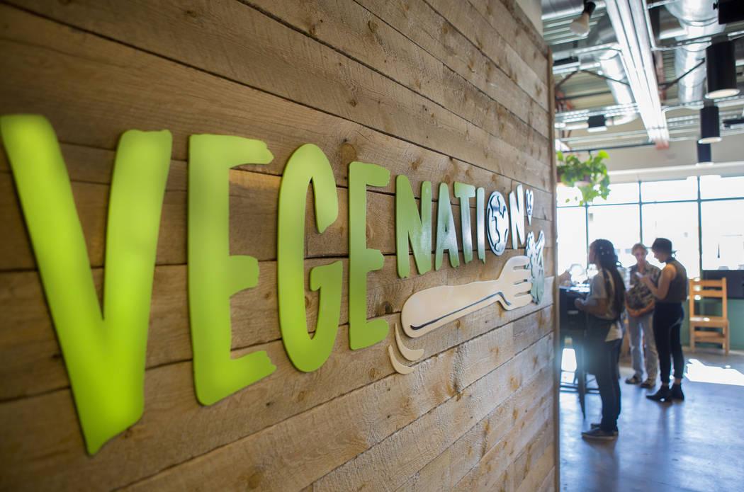 Servers deliver orders in VegeNation, Thursday, Nov. 10, 2016, in Las Vegas. Elizabeth Page Brumley/Las Vegas Review-Journal Follow @ELIPAGEPHOTO