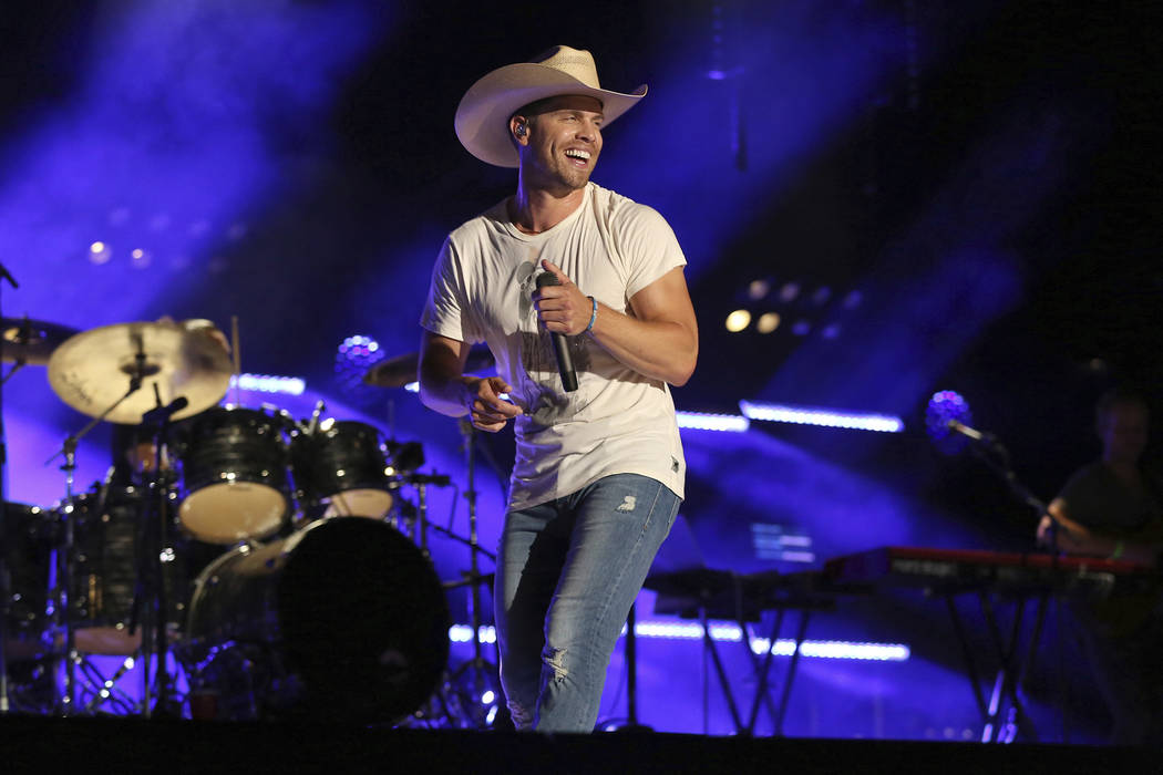 Artist Dustin Lynch performs at the 2018 CMA Music Festival at Nissan Stadium on Saturday, June ...