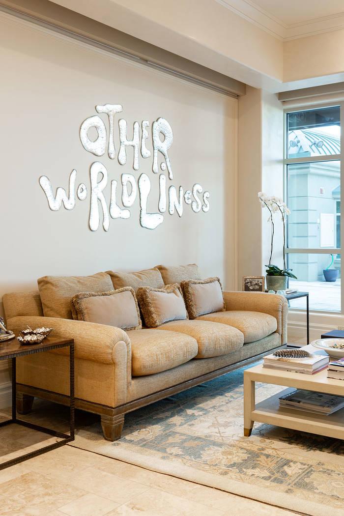 The living area features unique artwork. (Ivan Sher Group)