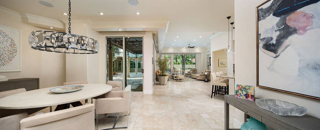 The home features imported travertine flooring. (Ivan Sher Group)