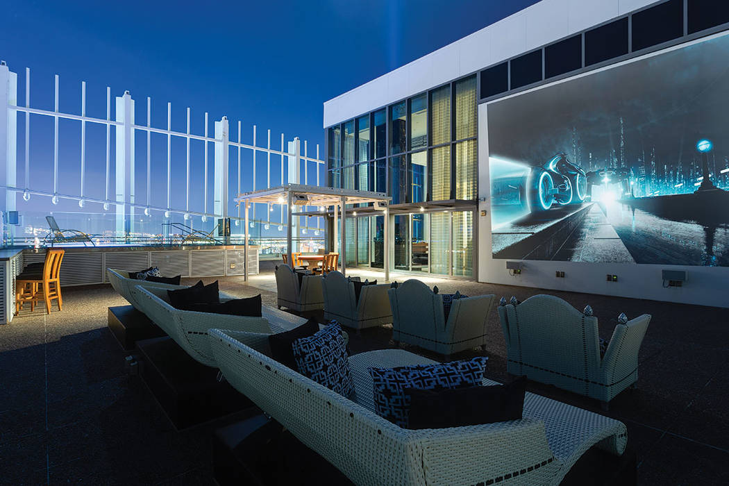 The rooftop features a large theater area. (Ivan Sher Group)