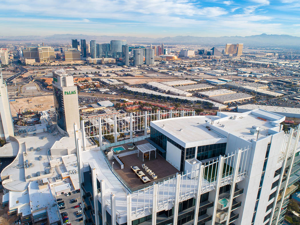 The penthouse has sweeping views of the Las Vegas Strip. (Ivan Sher Group)