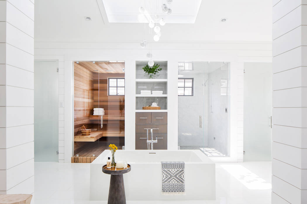 West Coast design gives a sense that you're on vacation in your own home, complete with large-scale tubs, saunas and steam showers, according to Wendy Blackband of Blackband Design. (Ryan Garvin ...