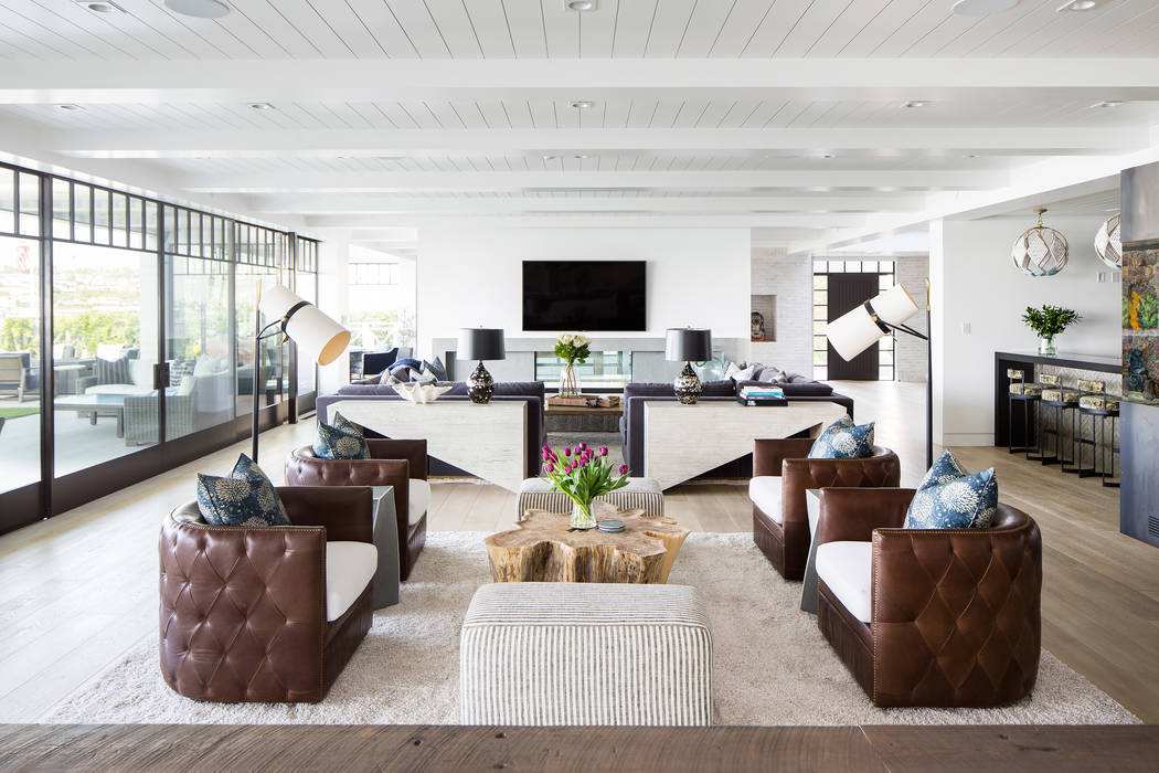 Mixing materials and textures add dimension to designs. Homeowners are starting to incorporate more color and materials into the surfaces as well as using curved furniture, lush textiles and archi ...