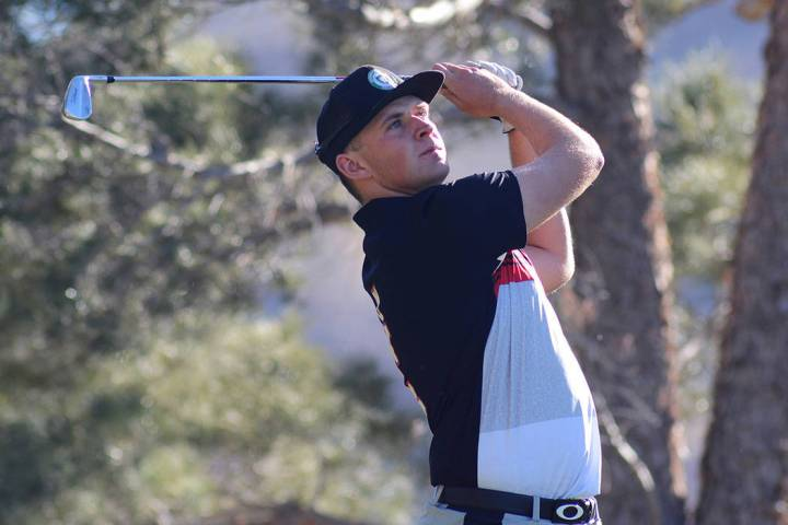 UNLV's Harry Hall is tied for fourth after the first two rounds of the National Invitational Tournament. (Courtesy/UNLV Athletics/Steve Spatafore)