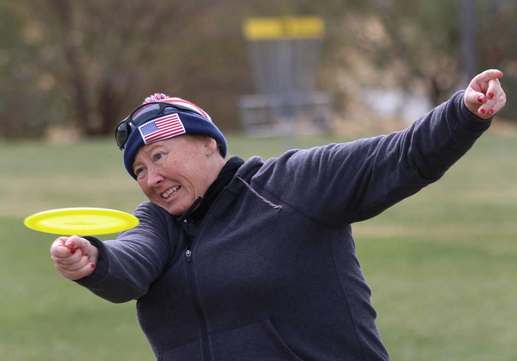 Autumn Grace of Richmond, Va., throws her disc during practice at Wildhorse Golf Club on Wednesday, Nov. 20, 2019, in Henderson. Bizuayehu Tesfaye Las Vegas Review-Journal @bizutesfaye