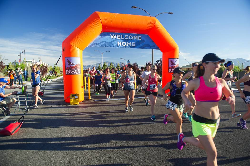 Skye Canyon will hold its fourth annual 5K/8K Road Run on March 9 at Skye Canyon Park. (Olympia Cos.)