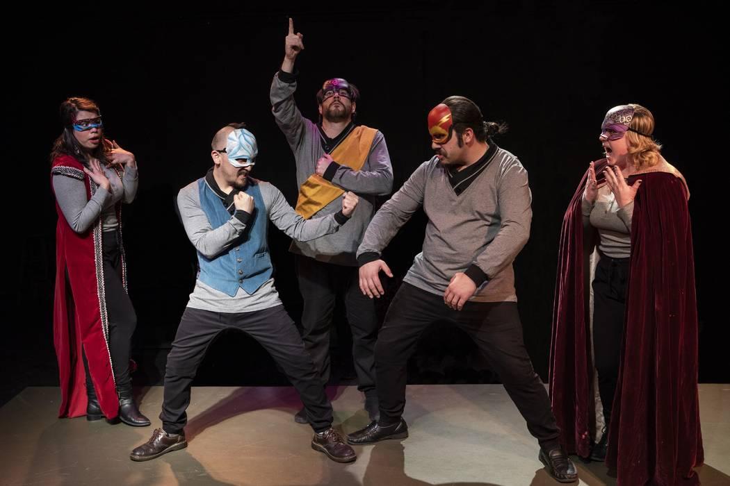 """As You Like It"" by Las Vegas Little Theatre. Cast members Natalie Senecal, Drew Yonemori, Brian David Sloan, Geo Nikols, and Stefanie McCue. (Las Vegas Little Theatre)"