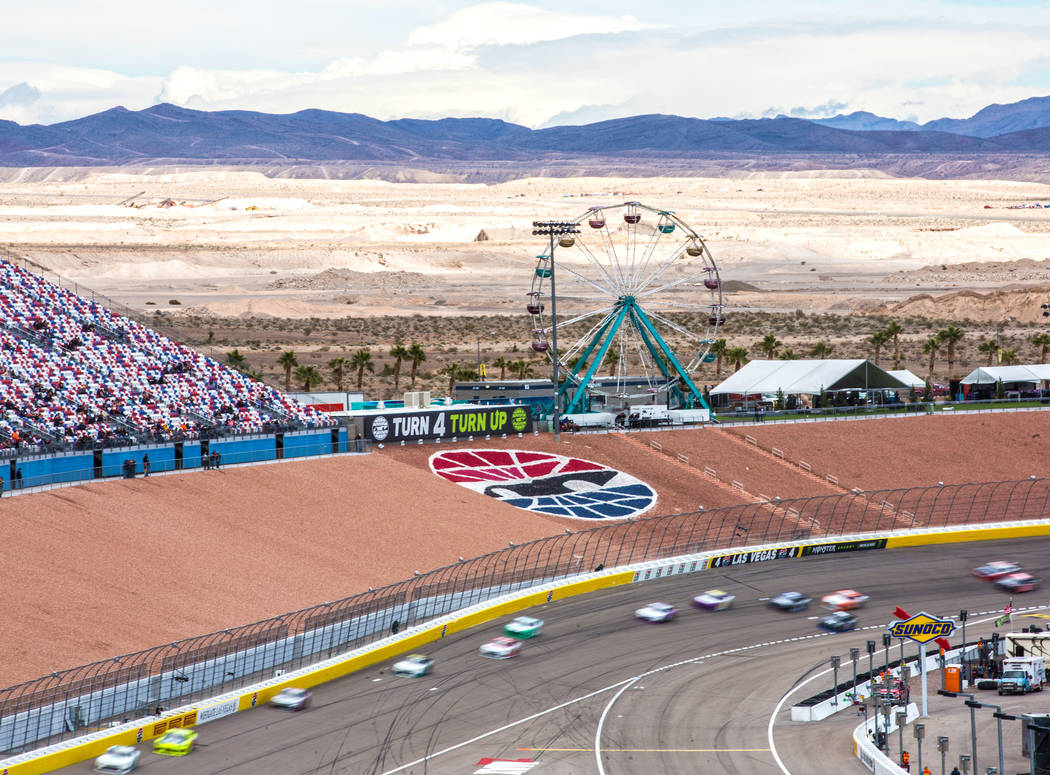 Drives race in the NASCAR Xfinity Series Boyd Gaming 300 on Saturday, March 2, 2019, at Las Vegas Motor Speedway, in Las Vegas. (Benjamin Hager Review-Journal) @BenjaminHphoto