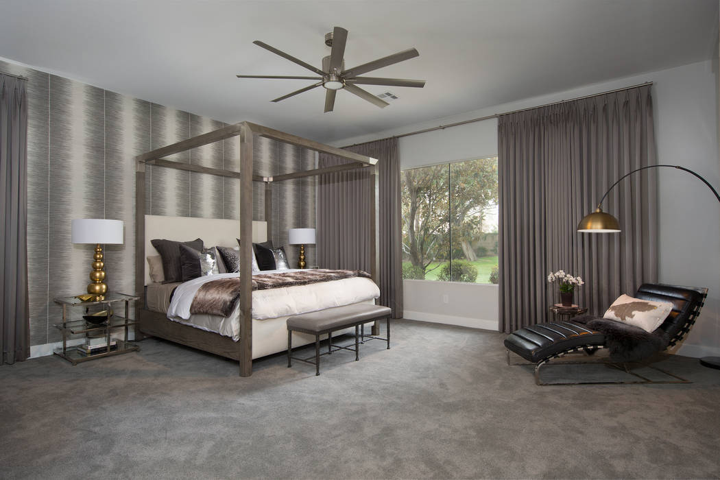 Drapery makes this bedroom look soft and warm. (P. Scinta Designs)