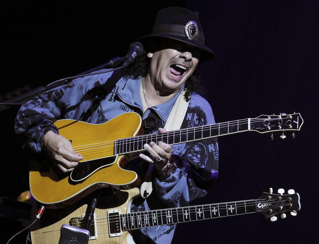 Santana performs at the House of Blues in Mandalay Bay in Las Vegas on Wednesday, May 2, 2012. (Jason Bean/Las Vegas Review-Journal) Jason Bean Santana performs at the House of Blues in Manda ...