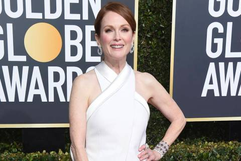 Julianne Moore arrives at the 76th annual Golden Globe Awards in Beverly Hills, Calif. on Jan. 6, 2019. (Jordan Strauss/Invision/AP, File)