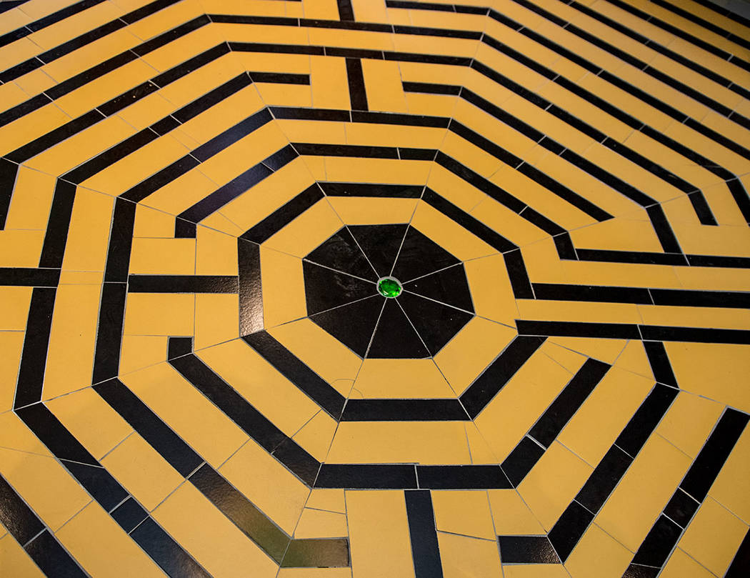 At the entrance is a tile design of the Yellow Brick Road. (Tonya Harvey Real Estate Millions)
