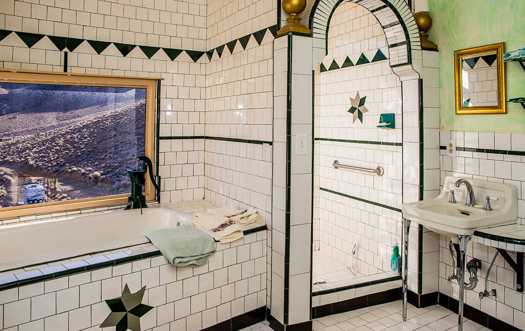 The main bath is on the third level. Owner Randy Johnston created the tile design. (Tonya Harvey Real Estate Millions)