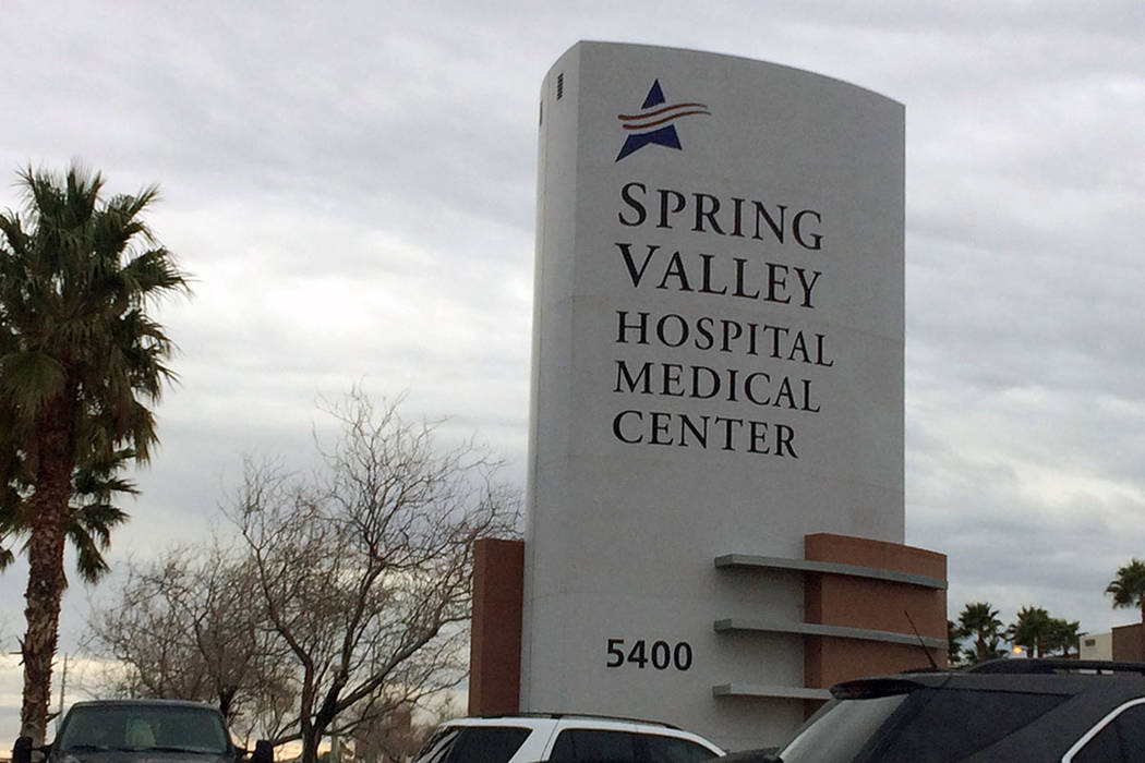 Spring Valley Hospital, 5400 S. Rainbow Blvd. (Las Vegas Review-Journal)