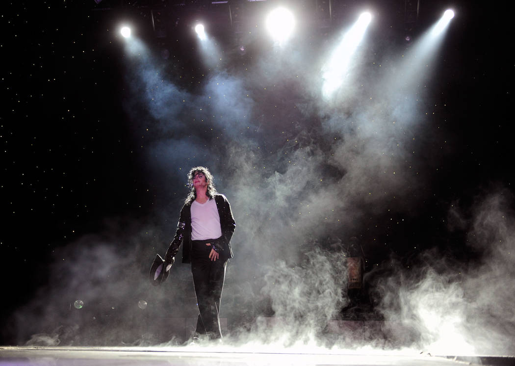 Michael Firestone performs as a Michael Jackson impersonator during his MJ Live tribute show at the Crown Theater at the Rio hotel-casino on Thursday, July 26, 2012. (David Becker/Las Vegas Review ...