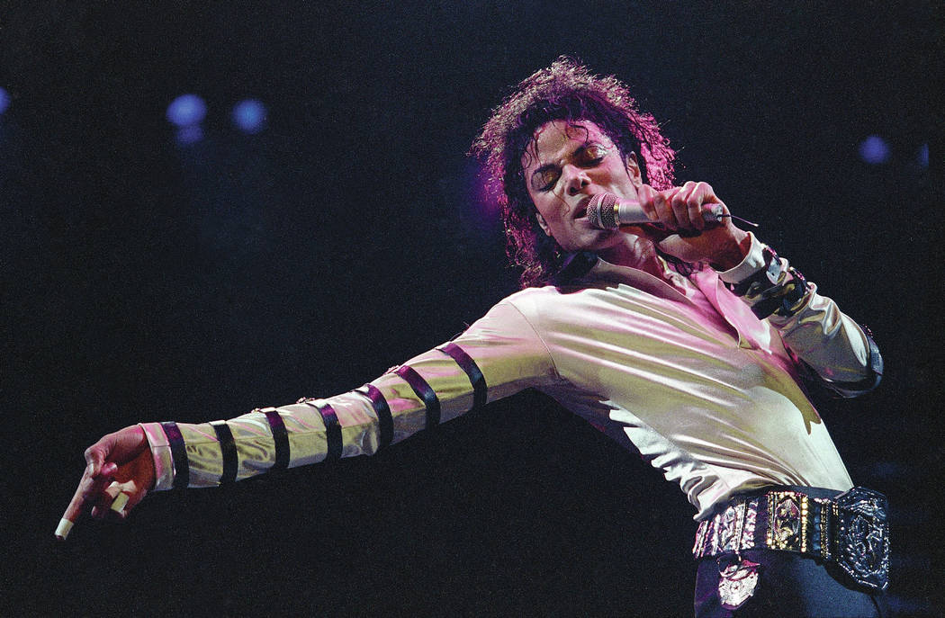 FILE - In this Feb. 24, 1988 file photo, Michael Jackson performs during his 13-city U.S. tour in Kansas City, Mo. The estate of Michael Jackson has landed the late King of Pop the biggest recordi ...