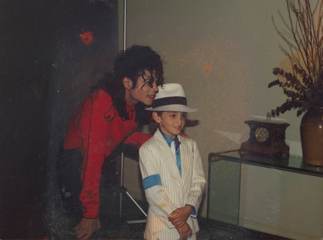 "Michael Jackson and a young Wade Robson are shown in a photograph from the documentary ""Leaving Neverland."" (HBO)"