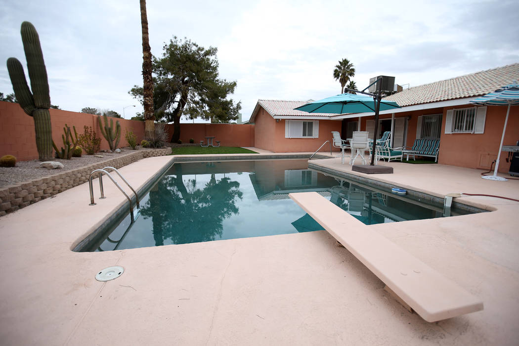 """The former home of Las Vegas mobster Tony """"The Ant"""" Spilotro at 4675 Balfour Drive in Las Vegas on Monday, Jan. 14, 2019. K.M. Cannon Las Vegas Review-Journal @KMCannonPhotohe market for about $41 ..."""