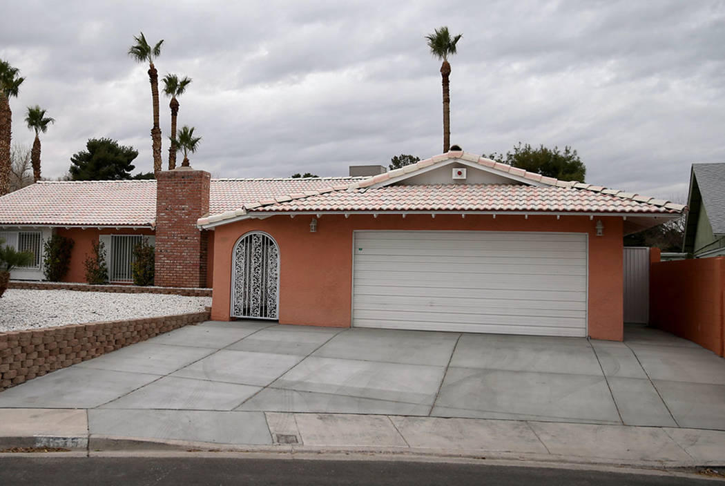 """The former home of Las Vegas mobster Tony """"The Ant"""" Spilotro at 4675 Balfour Drive in Las Vegas on Monday, Jan. 14, 2019. K.M. Cannon Las Vegas Review-Journal @KMCannonPhoto"""