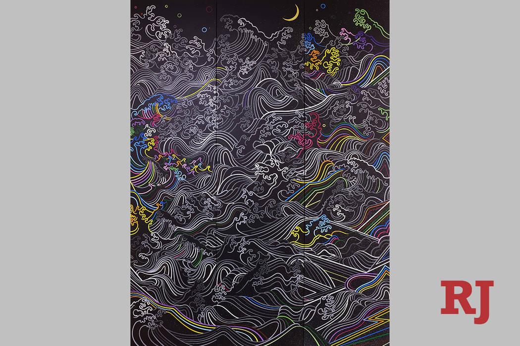 """Moon Over Marine"" by Sush Machida Sush Machida's ""Twenty Years in Vegas"" exhibit is on display in The Studio at Sahara West Library."