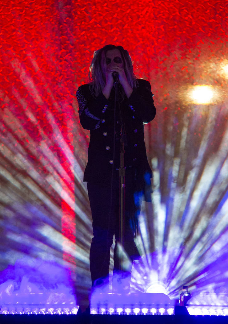 A Perfect Circle frontman Maynard James Keenan performs on day one of the second annual Las Rageous rock festival at the Downtown Las Vegas Events Center on Friday, April 20, 2018. Richard Brian L ...