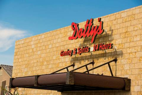 The Dotty's Gaming & Spirits on the corner of Hualapai Way and Sahara Avenue is shown on July 1, 2015. (Joshua Dahl/Las Vegas Review-Journal)