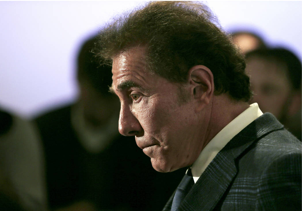 This March 15, 2016 file photo shows casino mogul Steve Wynn during a news conference in Medford, Mass. A termination agreement between embattled casino mogul Wynn and the company bearing his name ...