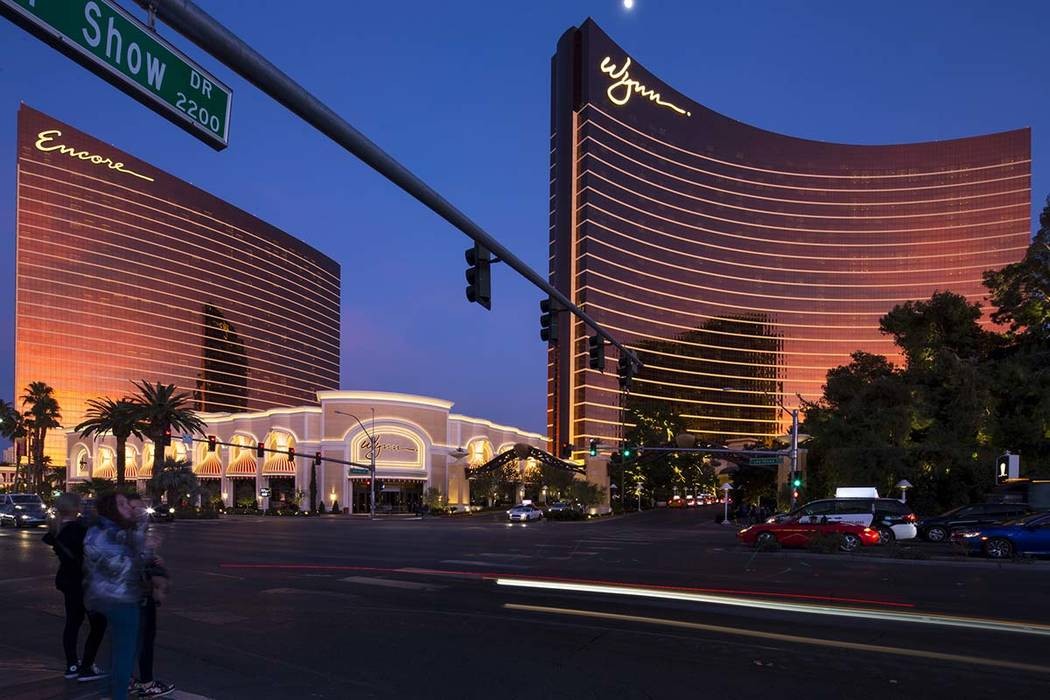 Encore, left, and Wynn Las Vegas on the Strip on Saturday, Jan. 27, 2018. Richard Brian Las Vegas Review-Journal @vegasphotograph
