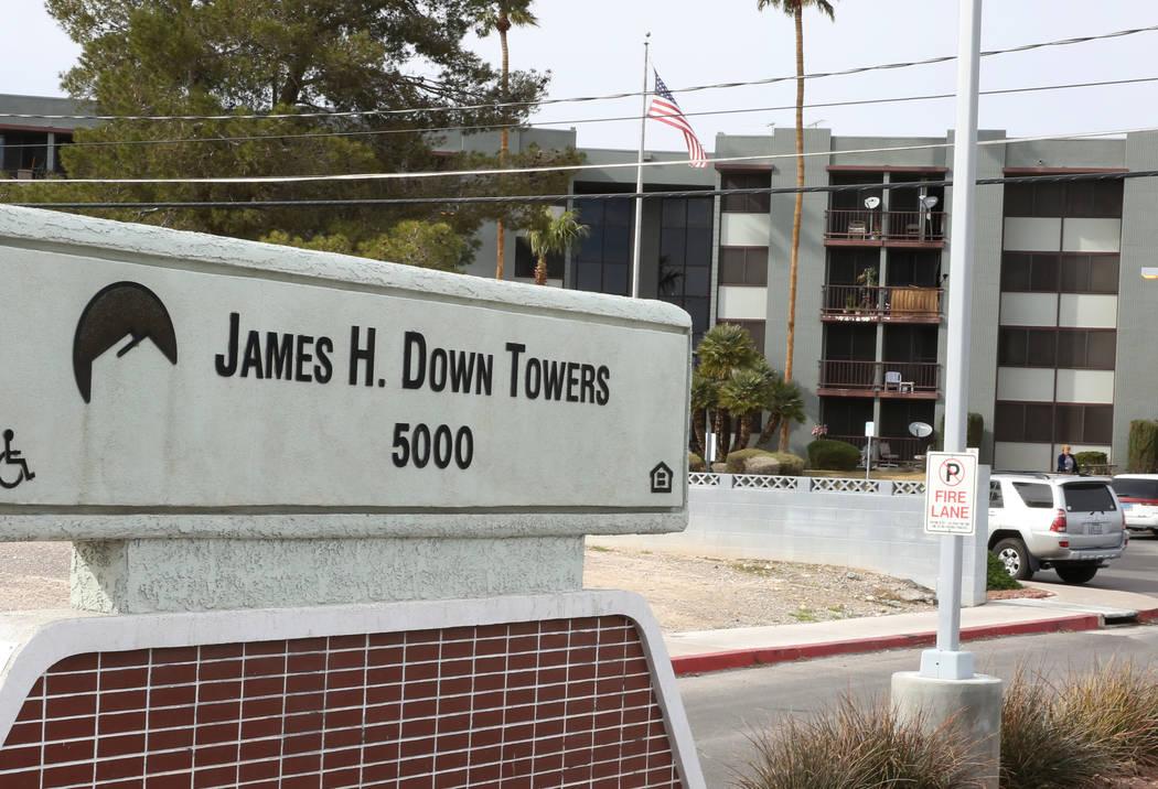James Down Towers, a high-rise public housing development for seniors, is seen on Friday, March 1, 2019, in Las Vegas. Bizuayehu Tesfaye Las Vegas Review-Journal @bizutesfaye