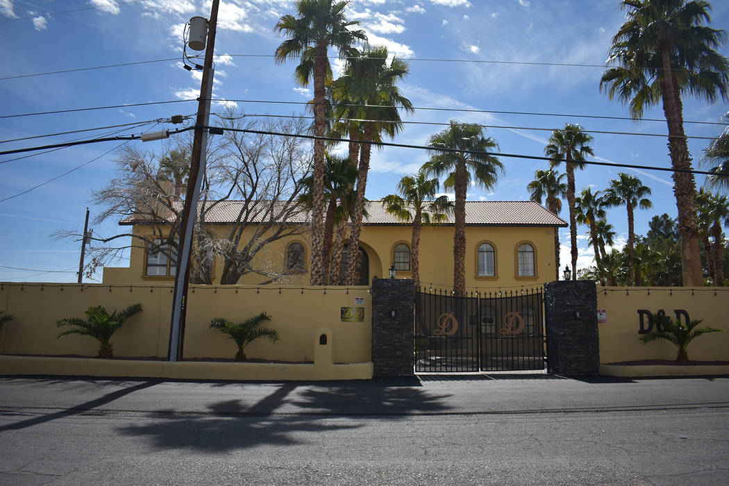 The Dreams and Desires Mansion in Spring Valley, listed for rent on totalmaxhomes.com located in the 6000 block of Darby Avenue. (Rachel Spacek/Las Vegas Review-Journal @RachelSpacek)