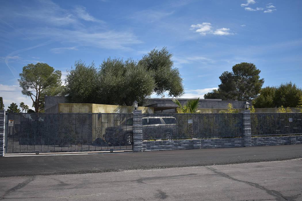 The Retreat of Revelation Mansion in Spring Valley, listed for rent on totalmaxhomes.com located in the 2000 block of Red Rock Street. (Rachel Spacek/Las Vegas Review-Journal @RachelSpacek)