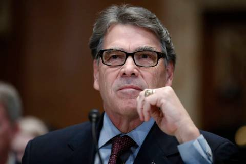 Energy Secretary Rick Perry testifies on the FY2019 budget during a hearing of the Senate Appropriations Committee Subcommittee on Energy and Water Development on Capitol Hill, Wednesday, April 11 ...