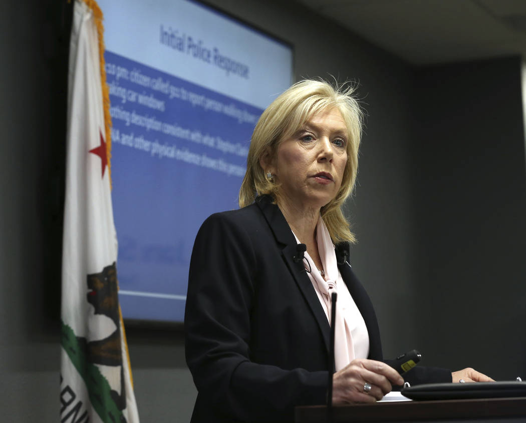 Sacramento County District Attorney Anne Marie Schubert announces that two Sacramento police officers will not face criminal charges in last year's fatal shooting of an unarmed black man, during a ...