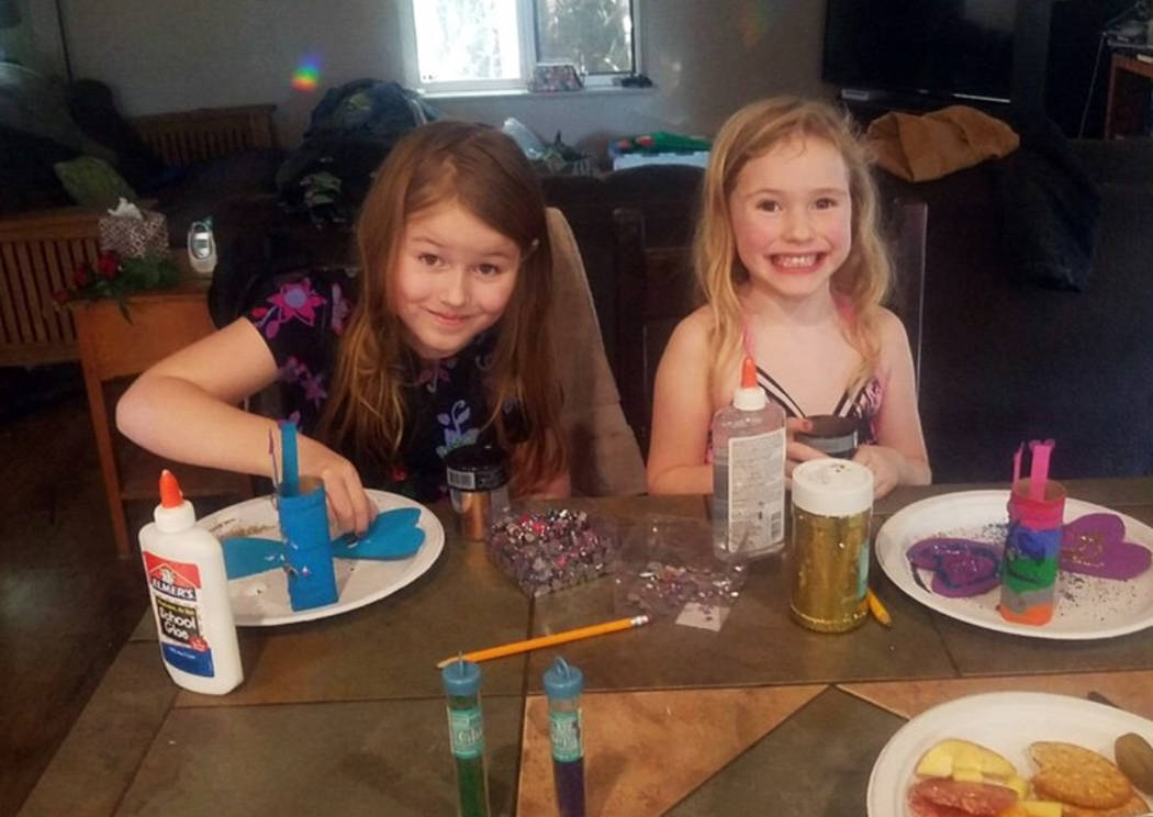 This undated photo provided by the Humboldt County Sheriff's Office shows Leia Carrico, 8, left, and her sister Caroline Carrico, 5, as they seek the public's help in locating them. More than 100 ...