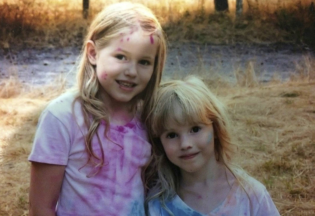 This undated photo provided by the Humboldt County Sheriff's Office shows Leia Carrico, 8, left, and her sister Caroline Carrico, 5. Last seen Friday, March 1, 2019, outside their home in Benbow, ...