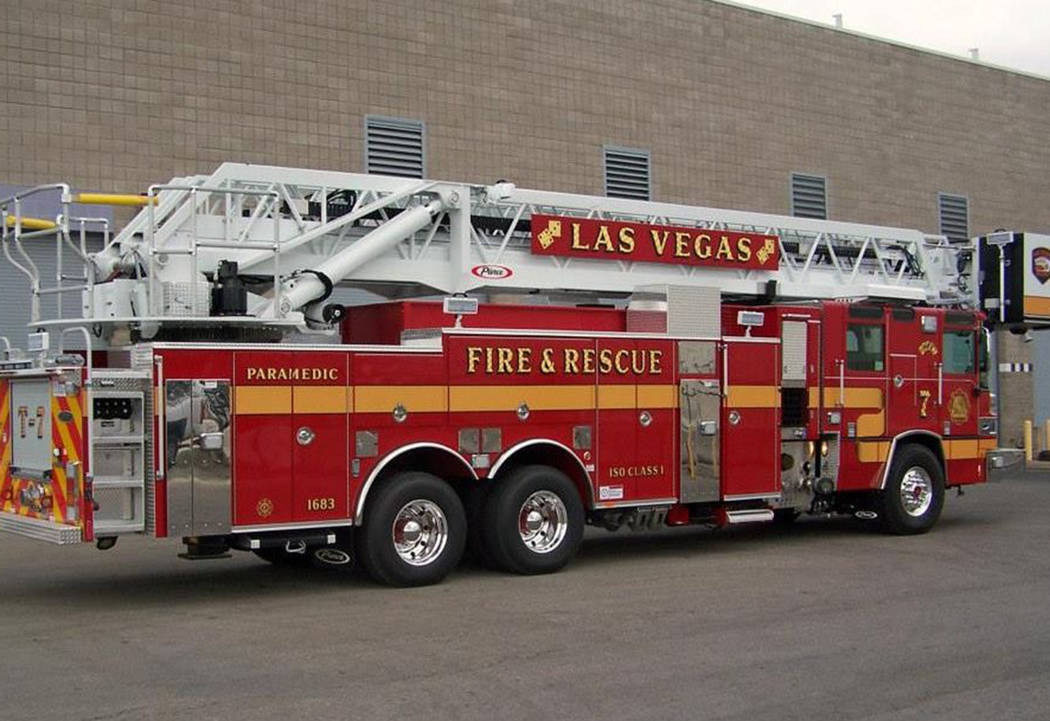 A woman is hospitalized with serious burns to her face, arms and hands after a garage fire broke out early Sunday in the east valley, the Las Vegas Fire Department announced Sunday, March 3, 2019. ...