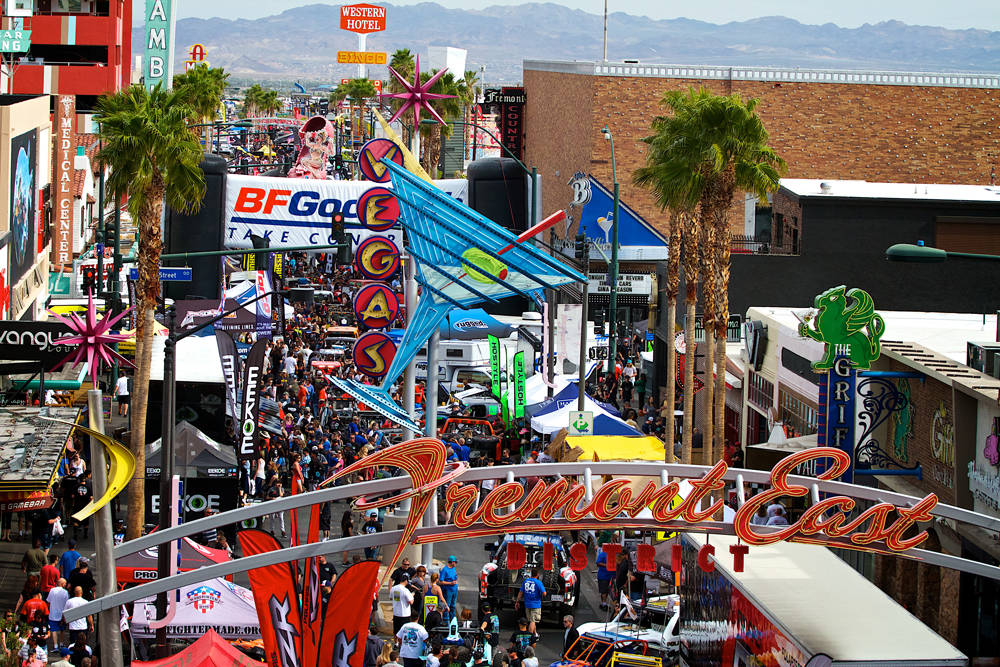 Fans attend the 2016 Mint 400 Tech & Contingency event in downtown Las Vegas. (Mint 400)
