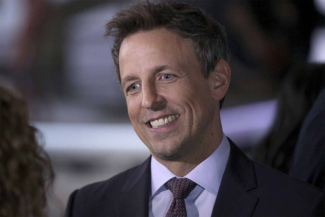 Seth Meyers attends the 75th Annual Golden Globe Awards Preview Day at The Beverly Hilton on Thursday, Jan. 4, 2018, in Beverly Hills, California. Meyers will host the program on Sunday night. (Wi ...