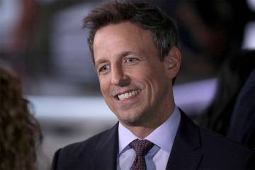 """Seth Meyers, the host of """"Late Night With Seth Meyers,"""" is making his debut at Wynn Las Vegas in May. (Willy Sanjuan/AP)"""