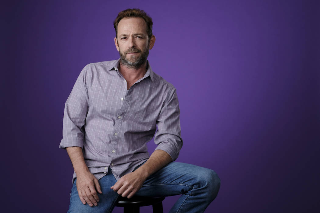 "Luke Perry, a cast member in the CW series ""Riverdale,"" died Monday after suffering a stroke last week. He was 52). (Chris Pizzello/Invision/AP)"
